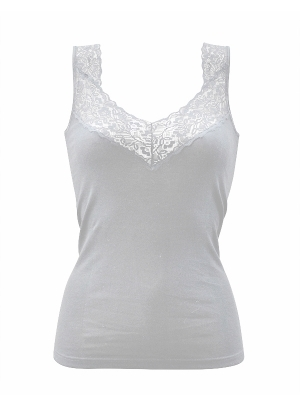 V neck top with lace 38/44